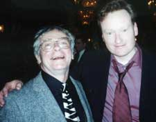 Pete Leinonen with Conan O'Brien